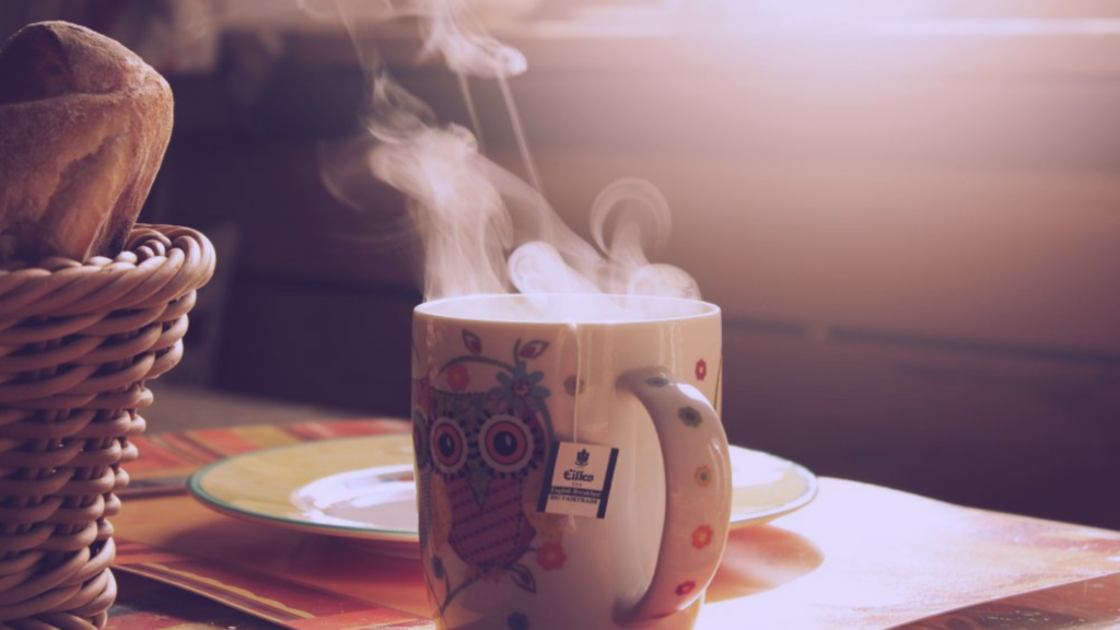 A warm mug of tea